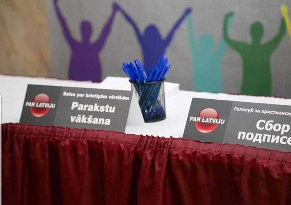 В Сейм Латвийской Республики подана петиция «За христианские и семейные ценности»
